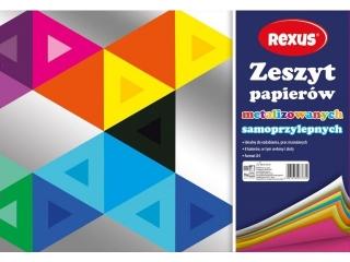 Wycinanka kredowa REXUS Metalizowana A4 8k.