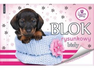 Blok rysunkowy A4 20k. BENIAMIN The Sweet Pets - Pies, z pie