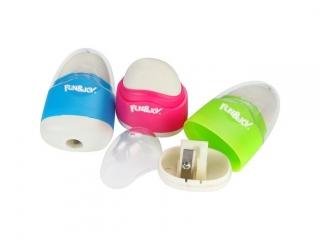 Temperówki plastikowe z gumk± Fun&Joy mix kolorów