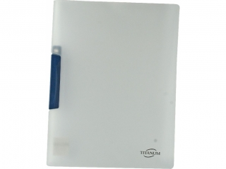 Skoroszyt PP Titanum A4 pó³przezroczysty niebieski klip (SKPRE)