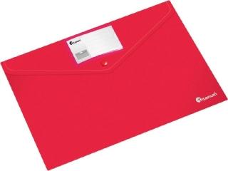 Teczka kopertowa PP Titanum A4 pozioma z etykiet± czerwona (TKI4RE)