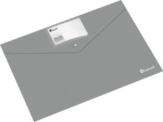 Teczka kopertowa PP Titanum A4 pozioma z etykiet± szara (TKI4GY)