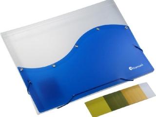 Teczka segreguj±ca PP Titanum A4 z gumk± 7 przegródek bia³o-niebieska (TP6BLT)