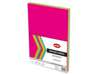 Papier ksero REXUS A4 100ark. Neonowy kolor mix