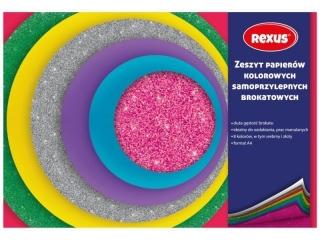 WYCINANKA SAMOPRZYLEPNA BROKATOWIONA A5/8k. REXUS (opakowani