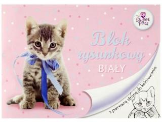 Blok rysunkowy A4 20k. BENIAMIN The Sweet Pets - Kot, z pier
