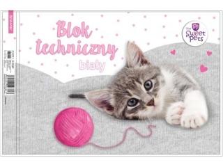 Blok techniczny A4 10k. BENIAMIN The Sweet Pets - Kot