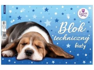 Blok techniczny A4 10k. BENIAMIN The Sweet Pets - Pies