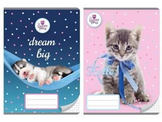 Zeszyt A5 16k. BENIAMIN The Sweet Pets, kratka