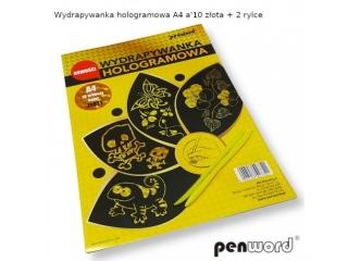 WYDRAPYWANKA HOLOGRAMOWA A4 a10  Z£OTA  + 2 rylce