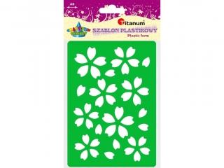 Szablon plastikowy TITANUM A6 kwiaty