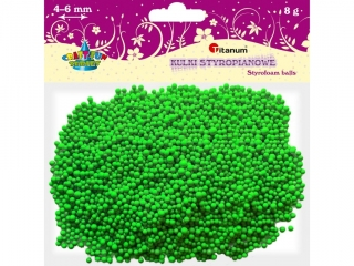 Kulki styropianowe TITANUM 5mm/8g zielone jasne