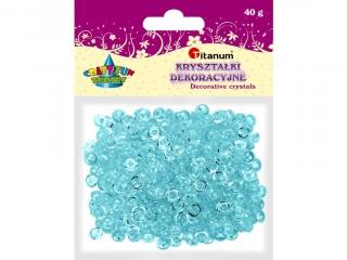 Kryszta³ki dekoracyjne TITANUM 40g - jasny niebieski