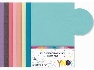 Filc dekoracyjny YNJ  mix Pastel 8szt.