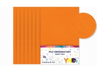 Filc dekoracyjny YNJ pomarañczowy 8szt.