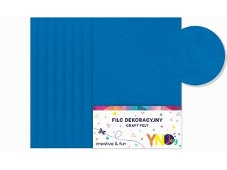 Filc dekoracyjny YNJ niebieski 8szt.