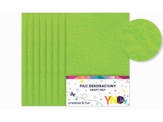 Filc dekoracyjny YNJ zielony jasny 8szt.