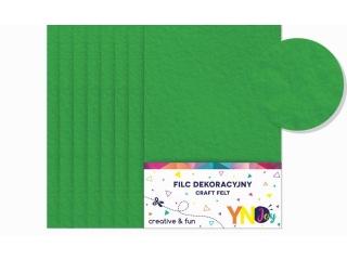 Filc dekoracyjny YNJ zielony ciemny 8szt.