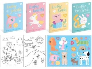 Kolorowanka INTERDRUK A4 16k. z naklejkami Lubiê