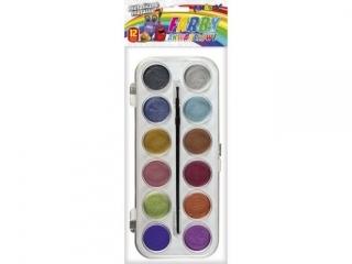 Farby akwarelowe FUN&JOY metaliczne 12 kolorów O30mm