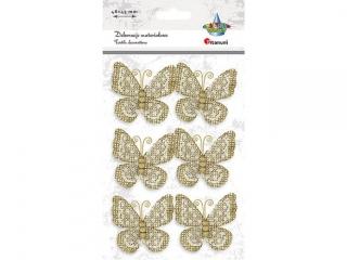 Motyle jutowe z koronk± 48x45mm tu³ów z drewnianych koralikó