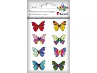 Guziki TITANUM Motyle mix 8szt 28mm