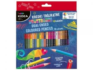 Kredki KIDEA trójk±tne dwustronne 48 kolorów