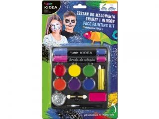 Zestaw do malowania twarzy i w³osów KIDEA 14szt.