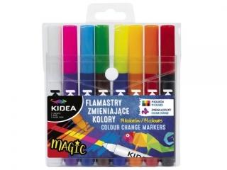Flamastry zmieniaj±ce kolory KIDEA 8szt.