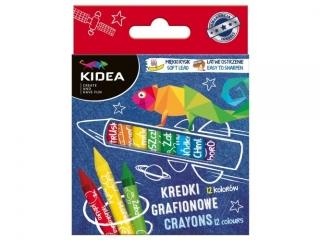 Kredki grafionowe KIDEA 12 kolorów