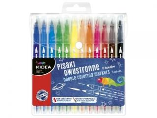 Pisaki dwustronne brush KIDEA 12 kolorów