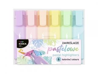 Zakre¶lacze KIDEA pastelowe 6 kolorów