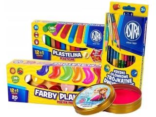 Mini zestaw plastyczny Astra - plastelina inteligentna Frozen gratis