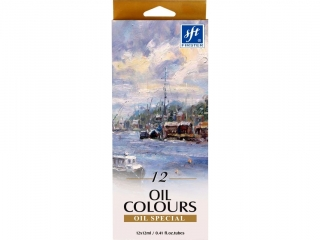 Farby olejne 12 kolorów TITANUM (FOC-121)