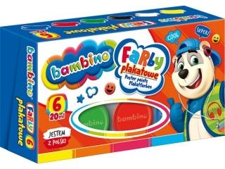 Farby plakatowe  6 kolorów MAJEWSKI Bambino 20ml