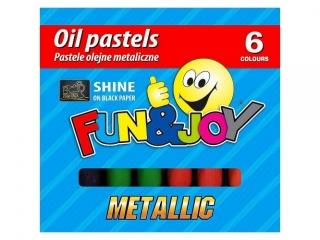 Pastele olejne  6 kolorów TITANUM Wodne metallic