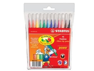 Flamastry STABILO Power 12 kolorów