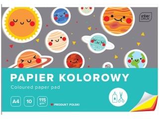 Zeszyt papierów kolorowych A4 10k. INTERDRUK