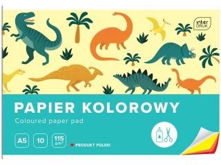Zeszyt papierów kolorowych A5 10k. INTERDRUK