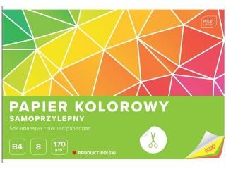 Zeszyt papierów kolorowych samoprzylepnych B4 8k. INTERDRUK