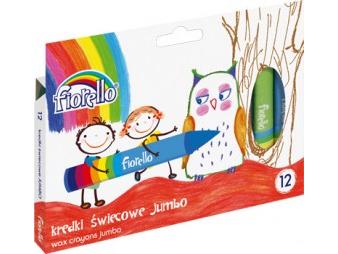 Jumbo voskovky Fiorello - 12 barev