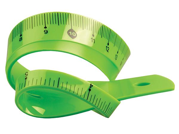 Pravítko 20 cm TETIS pružné zelené