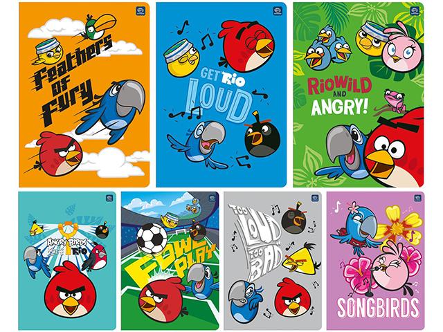 Sešit A5 čtvereček, Angry Birds Rio, 60 listů