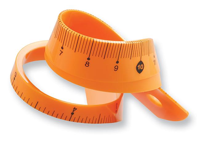 Pravítko 20 cm TETIS flexibilní oranžové