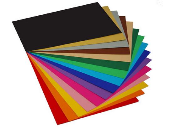 barevný karton A4 - 20 kusů