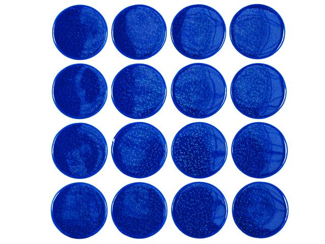 Reflexní samolepka modrá - kolečka 5 cm
