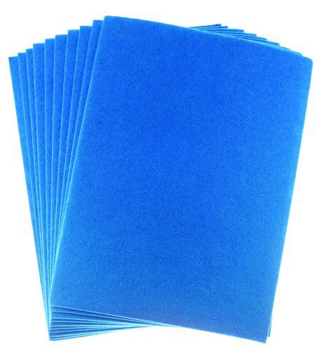 Filc modrý A4 , síla 2 mm - balení 10 kusů