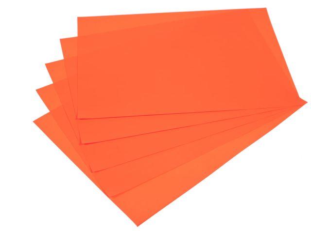 Samolepicí papír A4 - červený fluo, 20 listů