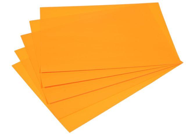 Samolepicí papír A4 - oranžový fluo, 20 listů