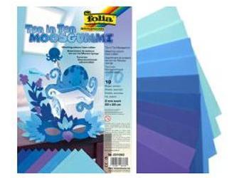 Dekorativní pěna 20x29cm modrý mix, cena za 1 list